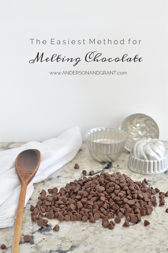 Do you find the task of melting chocolate difficult?  Check out this post for the easiest method to getting the job done!  | www.andersonandgrant.com