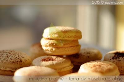 Macarons de muselina praliné