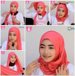 Tutorial jilbab pashmina simple, modis dan elegan