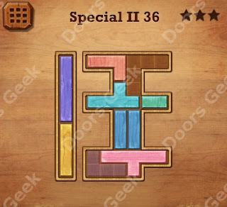 Cheats, Solutions, Walkthrough for Wood Block Puzzle Special II Level 36