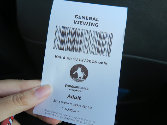 ticket for penguin parade