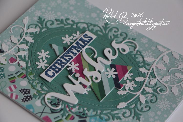 Scrapatout - Handmade card, Christmas, Impression Obsession, Wishes