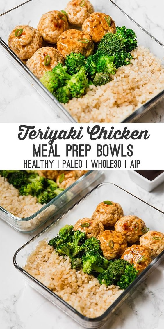 Teriyaki Chicken Meatball Meal Prep
