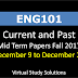 ENG101 Current and Past Mid Term Papers Fall 2017