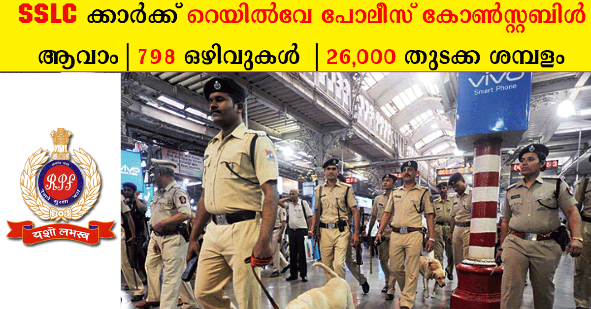RPF Recruitment 2019 : 798 vacancies