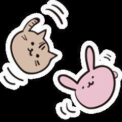 Manjyu of the rabbit & the cat