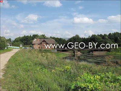 Гервяты. Пейзаж с водяной мельницей и рекой Лоша