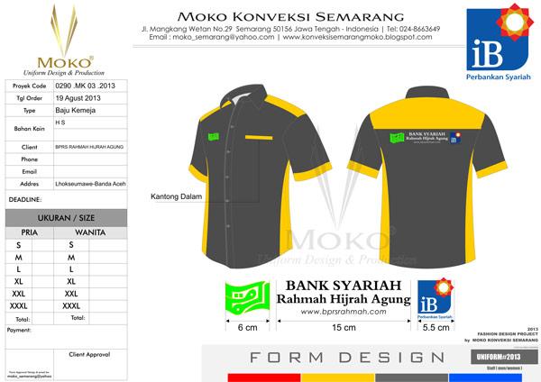 Model Baju Kerja Bank Syariah Rahmah Hijrah Agung Aceh