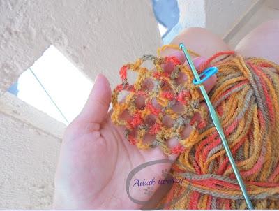 szydełkowanie - ażurowy kwiatek