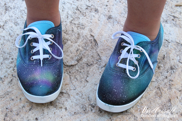 tie dye your summer and make galaxy shoes