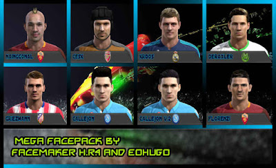 PES 2013 MegaFacePack by FacemaKer H.R.4 & eohugo