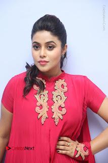 Actress Poorna Latest Stills in Red Dress at Rakshasi First Look Launch  0001.JPG
