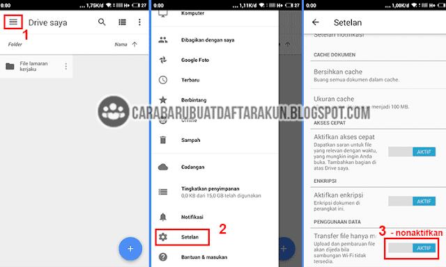 cara upload file lewat android