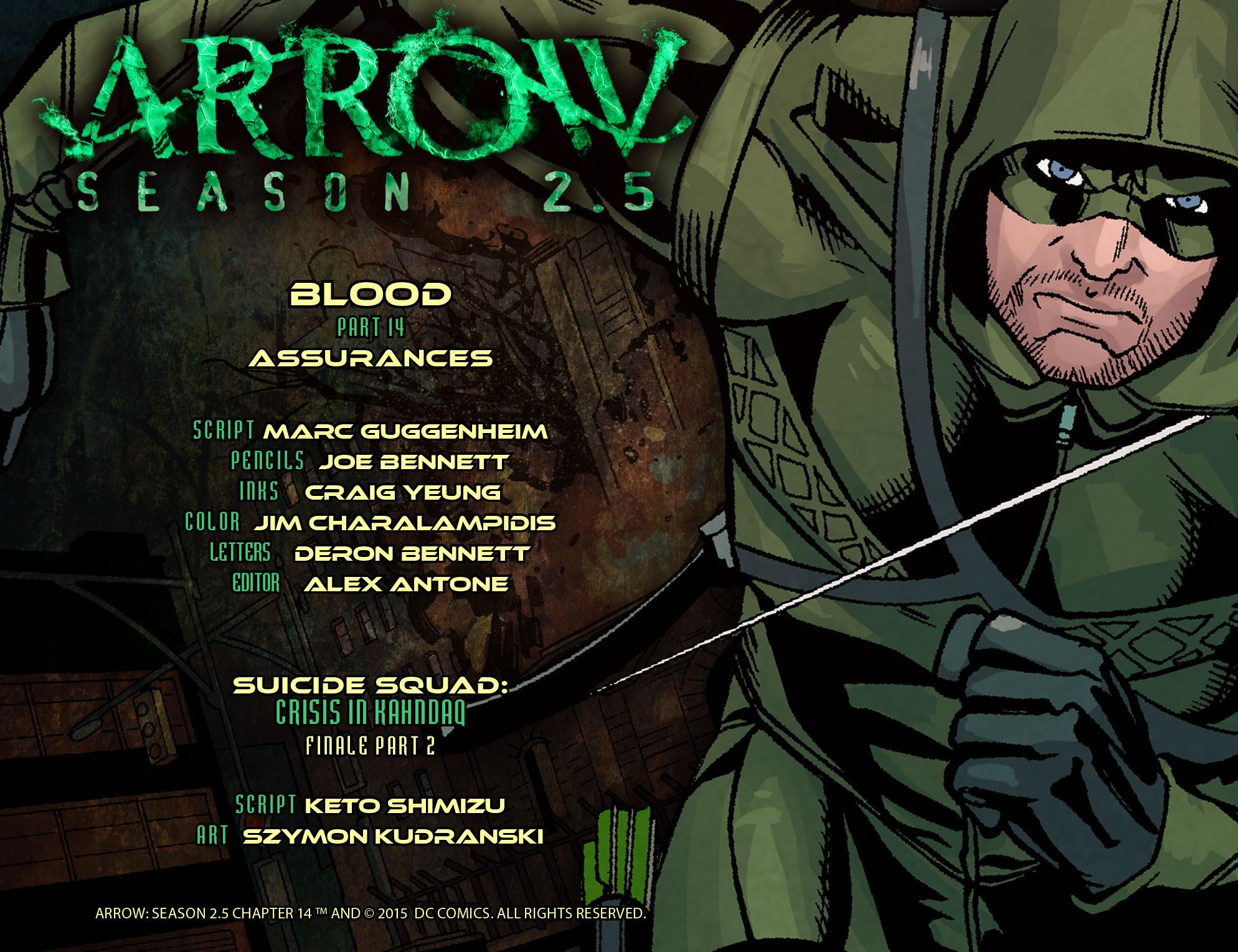 Read online Arrow: Season 2.5 [I] comic -  Issue #14 - 2