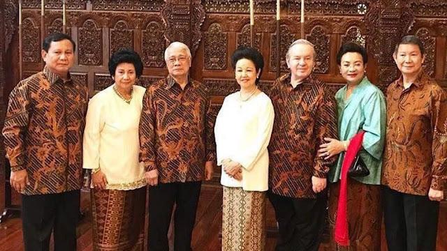 Prabowo Subianto dan Keluarganya
