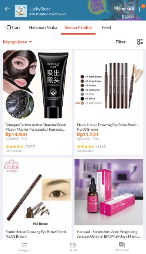 Lucky Store Sebagai Toko Kosmetik Terlaris di Lazada