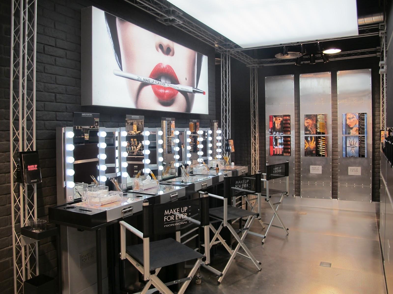 Futuristic salon interior design for Made design