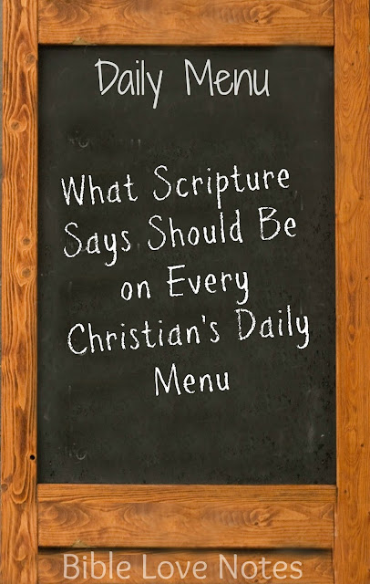 "Scripture provides a menu for a healthy spirit. Find out the ""food groups"" you need!"