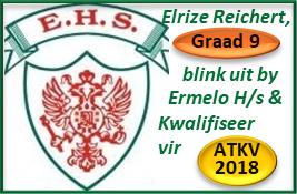Elrize Reichert Gr.9, blink uit by Ermelo H/s + kwalifiseer vir ATKV-2018