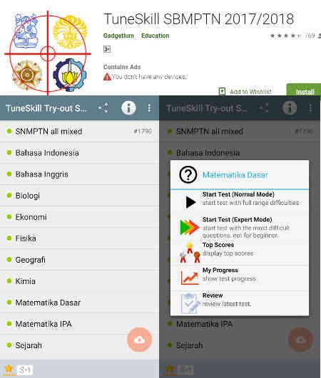 Aplikasi Latihan Soal SBMPTN dan Pembahasan yang Bagus