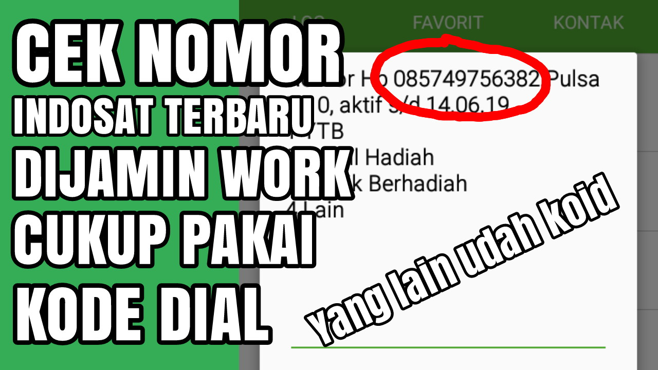 2 Cara Cek Nomor Indosat Ooredoo Terbaru (Work 2019)