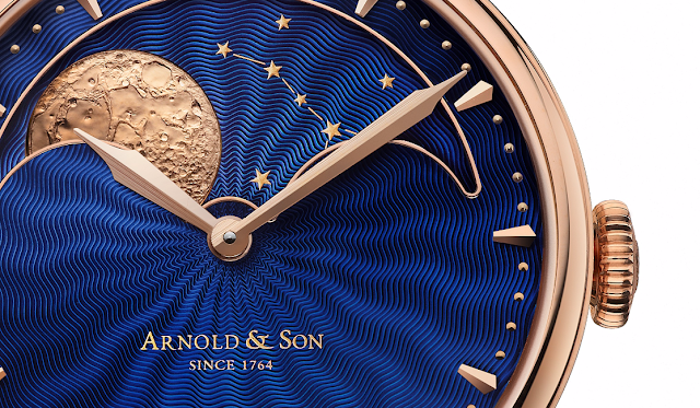 HM Perpetual Moon gold case with blue guilloche dial