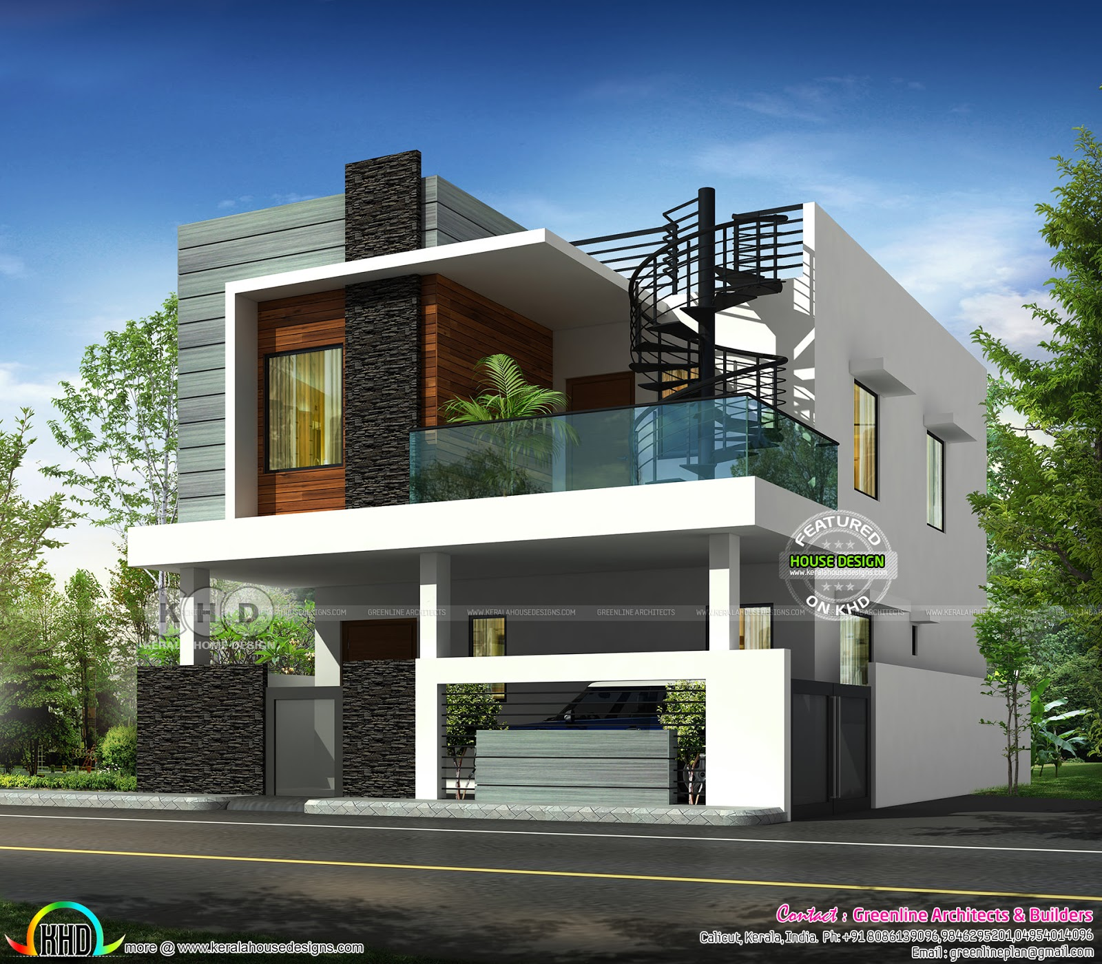 2976 Square Feet Modern Flat Roof 4 Bhk Home Kerala Home Design Bloglovin
