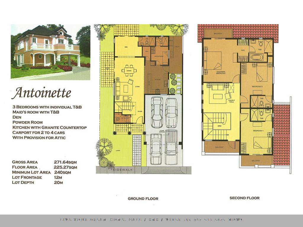 Floor Plan of Versailles Alabang - Antoinette   House and Lot for Sale Daang Hari Las Pinas