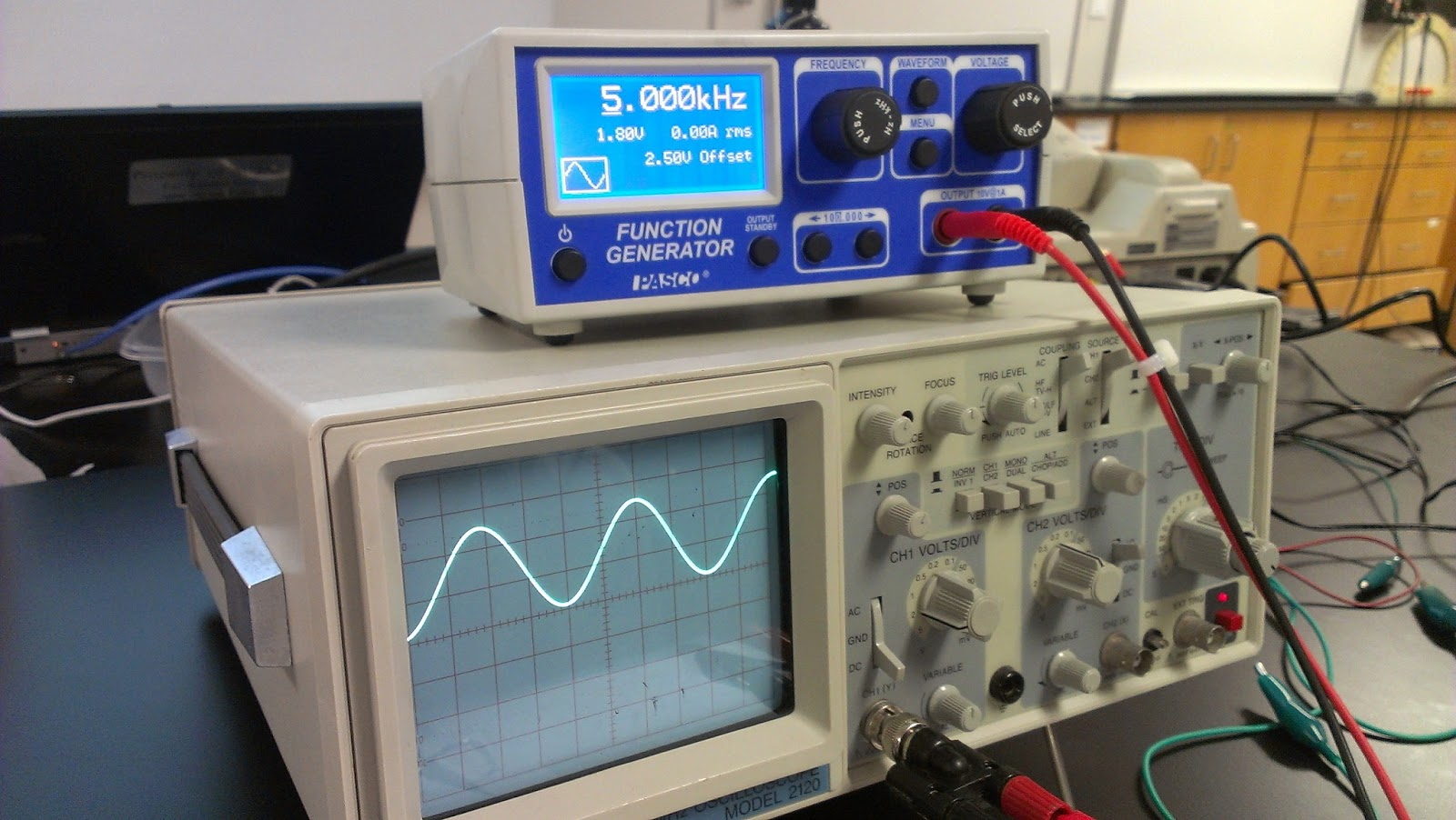 Oscilloscope Lab Engineering44zkuang Should See On The When You Measure Real Rc Circuit Use A Multimeter To Ac Voltage And Dc Of Generator We Find That Vac 117v Vdc 25v Which Shows Us Represents