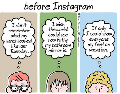 Cartoon: Before Instagram - photo from https://wronghands1.com