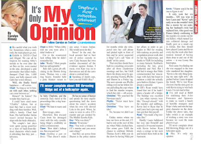 Carolyn Hinsey's latest column from Soap Opera Digest