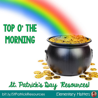 Top O' the Morning! St. Patrick's Day Resources: Here are videos, books, ideas, and 3 freebies to help your students learn about the Irish