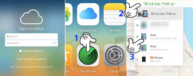 Hướng dẫn báo mất iCloud iPhone, iPad