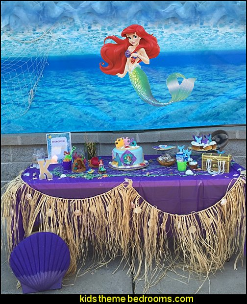 Decorating theme bedrooms maries manor mermaid party for Ariel birthday party decoration ideas