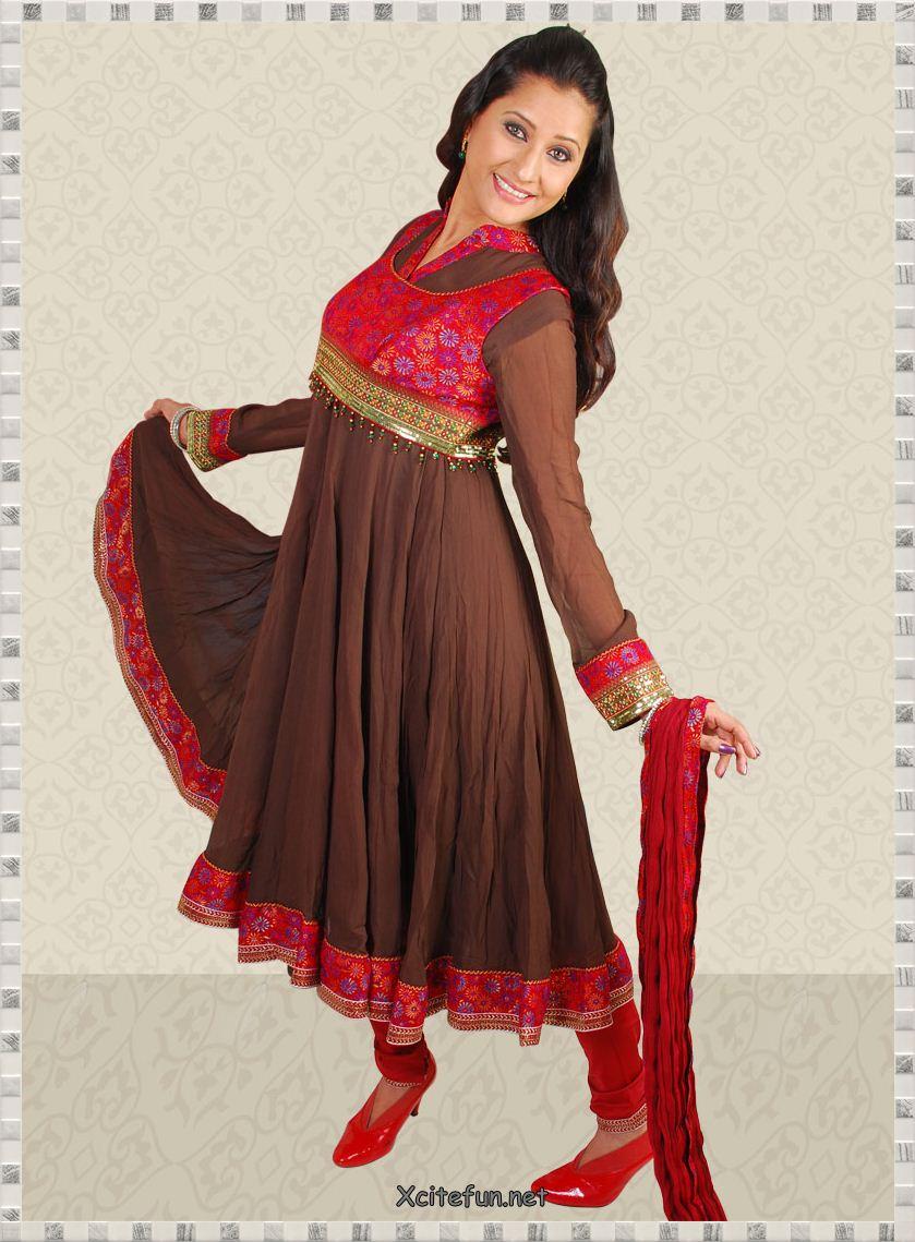 Anarkali Umbrella Frocks: Fashion & Beauty: Anarkali Umbrella Frock Dress With