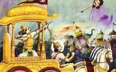Arjuna used gandharva Astra