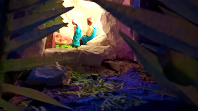 "This picture is about Christmas Crib, based on the theme: ""I am the resurrection and the Life."""