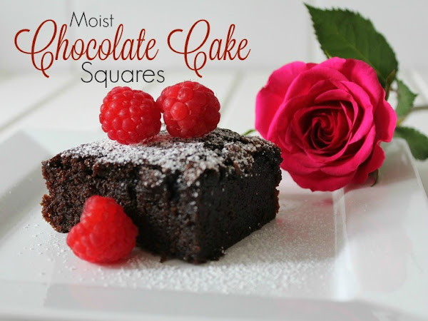 Moist Chocolate Cake Squares