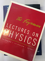 The Feynman Lectures on Physics, by Richard Feynman, superimposed on Intermediate Physics for Medicine and Biology.