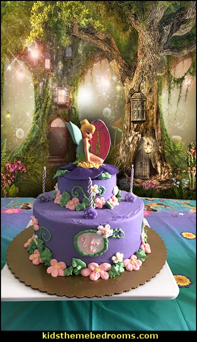Wilton Fairies Candle Set  Fairytale Backdrop Green Tree Forest
