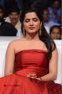 Actress Pavani Pictures in Red Long Dress at Jo Achyutananda Movie Audio Launch  0049