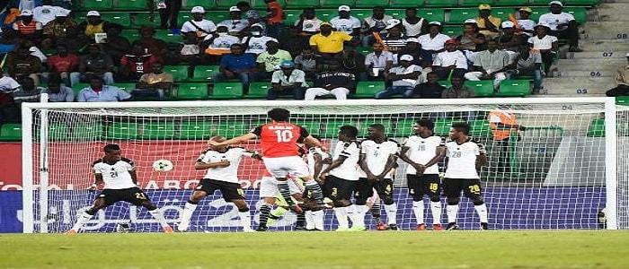 الجماهير المصرية تحتفل بالفوز على منتخب غانا وتصدر المجموعة الرابعة