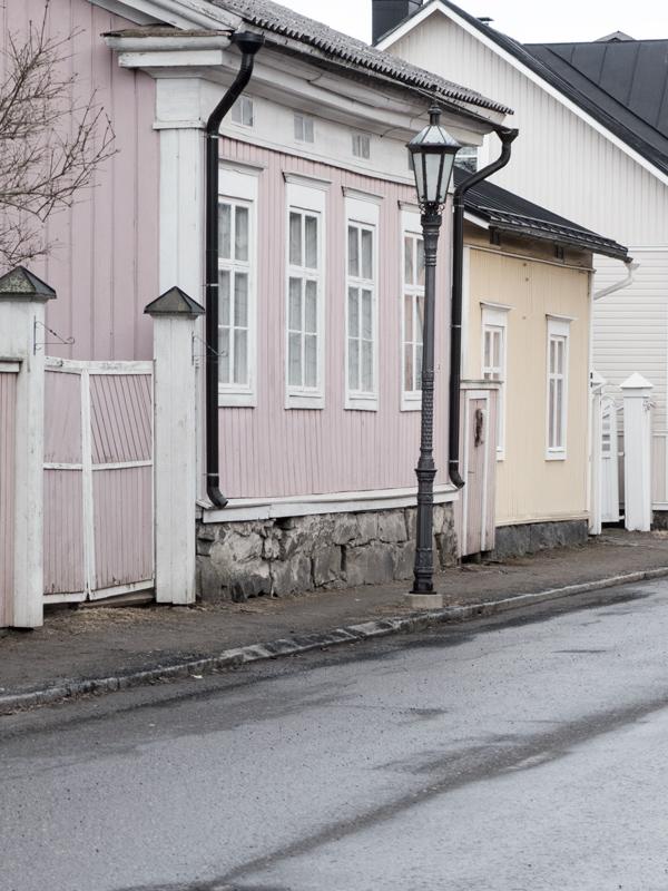 Kokkola, vanhat rakennuksen, vanha kaupunki, puutalo miljöö