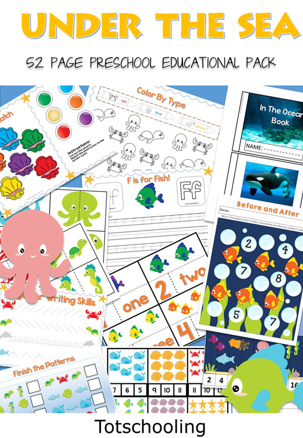 Under the Sea Preschool Pack | Totschooling - Toddler, Preschool ...