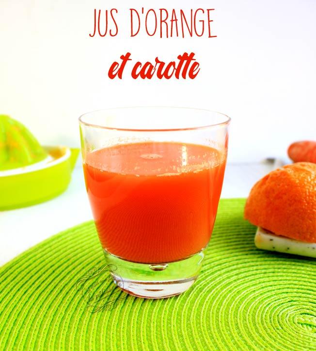 recette jus d'orange carotte