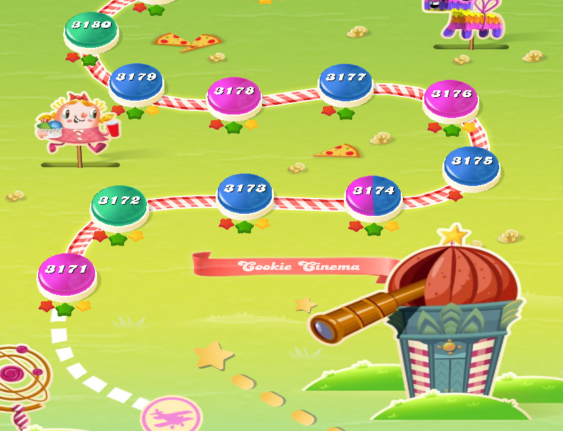 Candy Crush Saga level 3171-3185