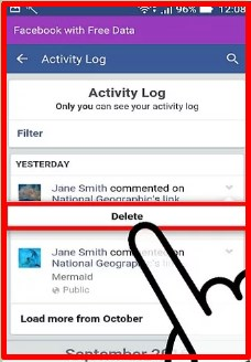 how to delete a comment on facebook 2017