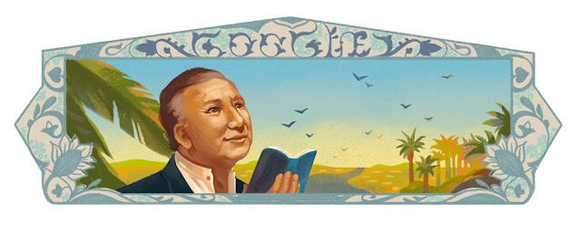 Nizar Qabbani's 93rd birthday - Google Doodle