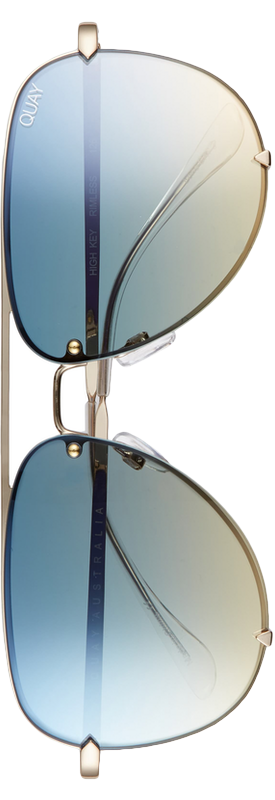 Quay Desi Perkins High Key 53mm Rimless Aviator Sunglasses
