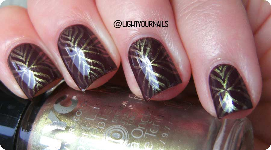 Duochrome nail stamping with plate BP110